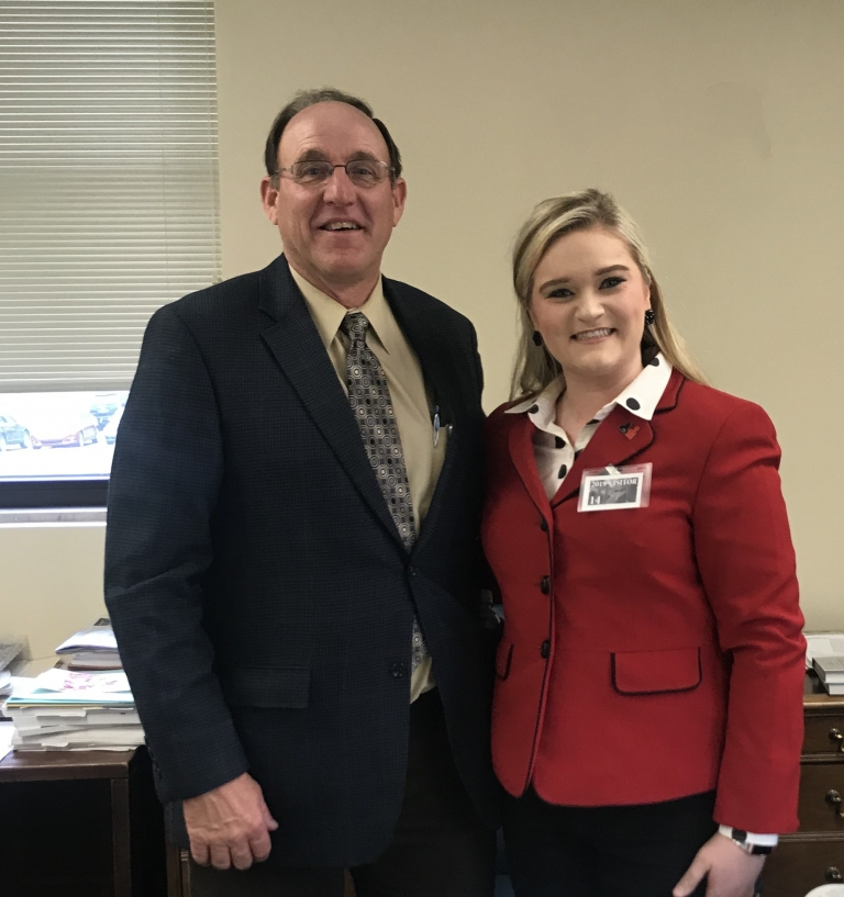 Representative Stewart and Public Health Student Sadie Harris